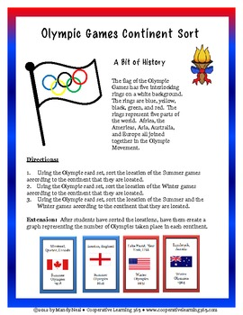 Let the Games Begin-Olympic Games Activity Pack