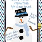 Let's Build a Snowman Writing Pack
