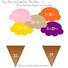 Lets Build an Ice Cream Cone - Addition &amp; Subtraction Skills