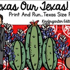 Let&#039;s Celebrate Texas Our Texas Print And Go!