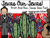 Let's Celebrate Texas Our Texas Print And Go!