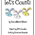 Let&#039;s Count Numeral Cards for Easter and Spring