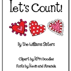 Let&#039;s Count Numeral Cards for February and Valentine&#039;s Day