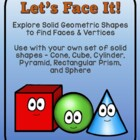 Let&#039;s Face It! - Solid shapes - faces and vertices