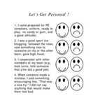 Let&#039;s Get Personal--PE Rubric