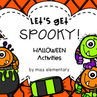 Let&#039;s Get Spooky! Halloween Actvities