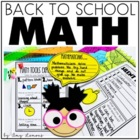 Let&#039;s Get Started {Beginning of the Year Math Activities}