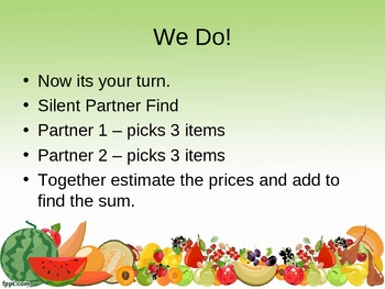 Let's Go Grocery Shopping Estimation Lesson