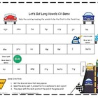 Let's Go! Long Vowels CV Literacy Station Word Game RF.1.3