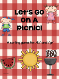 Let's Go On A Picnic  Sorting Game for K and G Sounds Spee