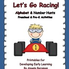 Let&#039;s Go Racing ~ Alphabet and Number Hunts
