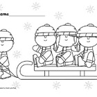 Let's Go Sledding for Christmas Listening Activity