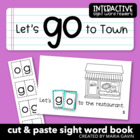 "Interactive Sight Word Reader ""Let's Go to Town"""