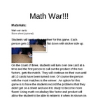 Let&#039;s Go to War!!!!-(math war that is!)