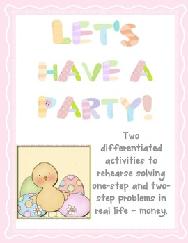 Let's Have a Party - Math Word Problems
