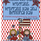 Let's Honor Our Veterans:  Veterans Day and Memorial Day E