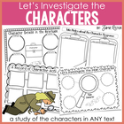 Let&#039;s Investigate the Characters {A Common Core-Aligned ELA Unit}
