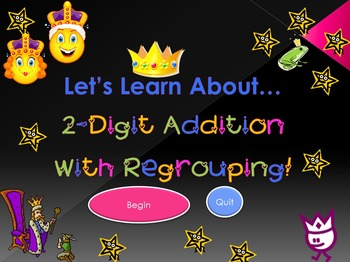 Let's Learn About 2-Digit Addition With Regrouping! (PowerPoint)