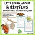 Let&#039;s Learn About Butterflies Web Quest Research Activity 