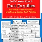 Let&#039;s Learn About Fact Families