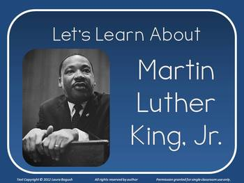 Let's Learn About Martin Luther King PowerPoint Lesson for