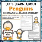 Let&#039;s Learn About Penguins Web Quest Research Activity Worksheet