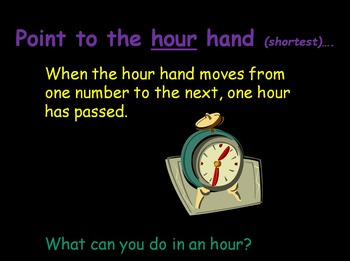Let's Learn About Telling Time! (PowerPoint) For Elementary