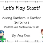 Let&#039;s Play Scoot! {Missing Numbers in + and - Number Sentences}