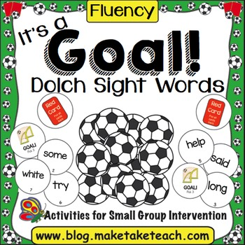 Let's Play Soccer!  Dolch Sight Word Lists 1-9