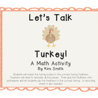Let's Talk Turkey {A Thanksgiving Addition Activity}