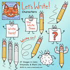 Let&#039;s Write Clip Art [Pencil &amp; Paper Characters]