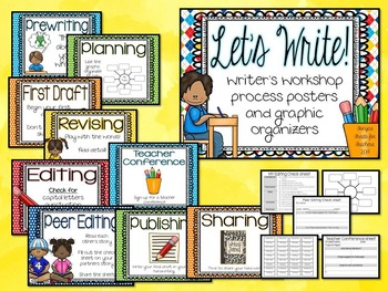 Let's Write~writing workshop posters and graphic organizers