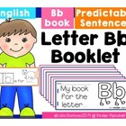 Letter Bb Booklet- Predictable Sentences