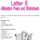 Letter E Alliteration Set