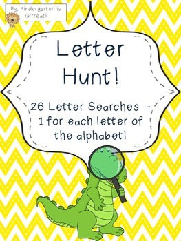 Letter Hunt - A Letter Word Search