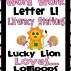 Letter L Word Work Literacy Station Pack