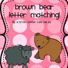 Letter Naming Brown Bear theme
