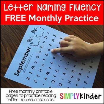 Letter Naming Fluency Freebie