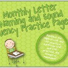 Letter Naming and Sound Fluency Monthly Practice {Perfect