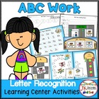 Letter Recognition! ABC Fliers Literacy Center Activities {CCSS}