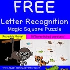 Letter Recognition Magic Square FREEBIE