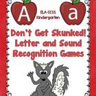 Letter Recognition and Sound Games - Don't Get Skunked!