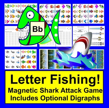 Letter Recognition or Phonics Fishing Literacy Center