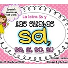 Letter S and Syllables- Spanish