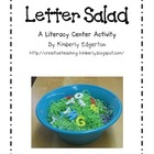Letter Salad Literacy Activity