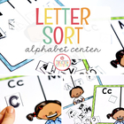 Letter Sorting Literacy Center