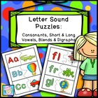 Letter Sound Puzzles:  Consonants, Short &amp; Long Vowels, Bl