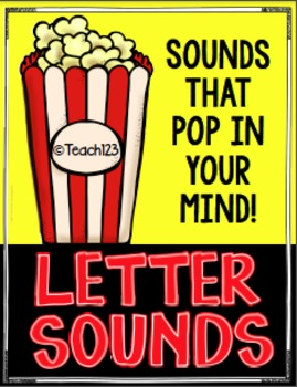 Letter Sounds: Popcorn Program EDITABLE