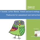 Letter Sounds and Blends Flashcards
