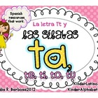 Letter T and Syllables- Spanish